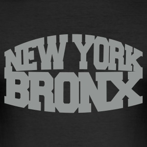 Schwarz new york bronx T-Shirts - Männer Slim Fit T-Shirt