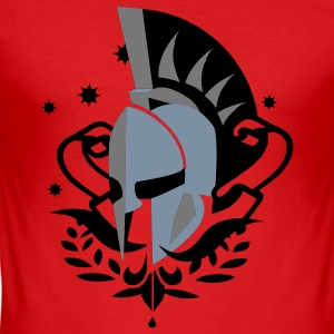 Wine Spartan helmet Men's T-Shirts - Men's Slim Fit T-Shirt
