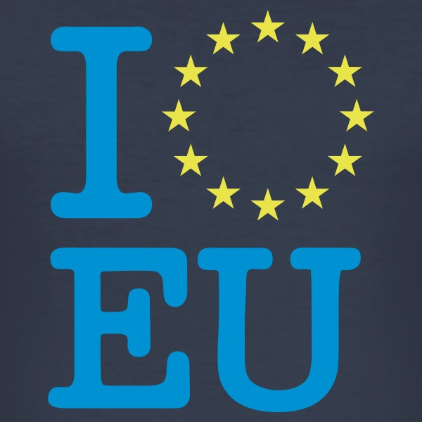 Dark navy I love EU T-Shirts - Männer Slim Fit T-Shirt