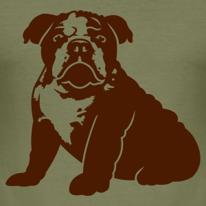 Camel bulldog_puppy_v1_1c Men's Tees - Men's Slim Fit T-Shirt