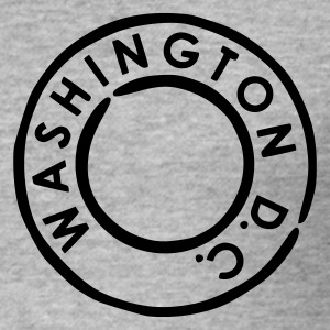 Blended grey Washington DC Men's Tees - Men's Slim Fit T-Shirt