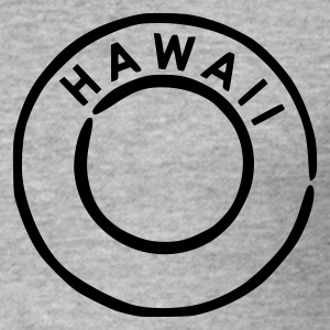 Blended grey Hawaii Men's Tees - Men's Slim Fit T-Shirt
