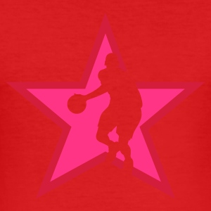 Wine basketballer_star Men's Tees - Men's Slim Fit T-Shirt