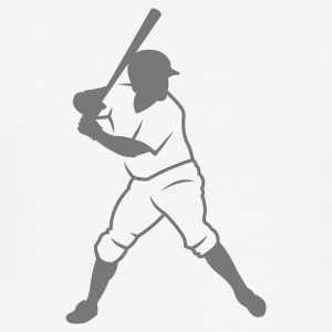 White baseball_player_newoutline Men's Tees - Men's Slim Fit T-Shirt