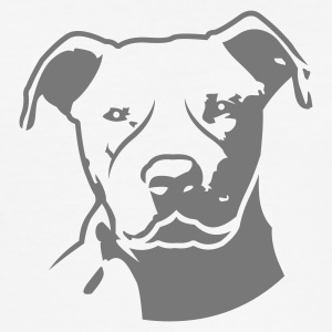 White pitbull_head_front Men's Tees - Men's Slim Fit T-Shirt