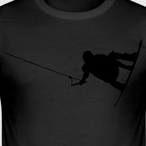 Wakeboarder 06 Tee shirts - Tee shirt près du corps Homme