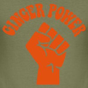 Brown Ginger Power Men's Tees - Men's Slim Fit T-Shirt