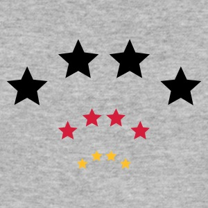 Heather grey 4 Sterne für Schwarz rot gold / 4 stars (3c) Men's T-Shirts - Men's Slim Fit T-Shirt
