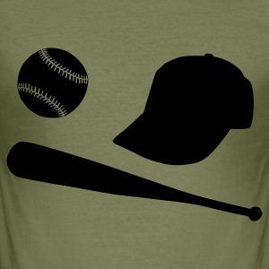 Baseball - Männer Slim Fit T-Shirt