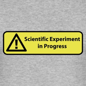 Gråmelerad Scientific experiment in progress T-shirts - Slim Fit T-shirt herr