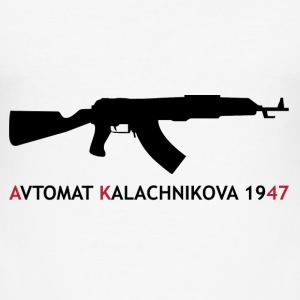 AK-47 - Kalashnikov / Weapon / Gun / Army T-Shirts - Men's Slim Fit T-Shirt