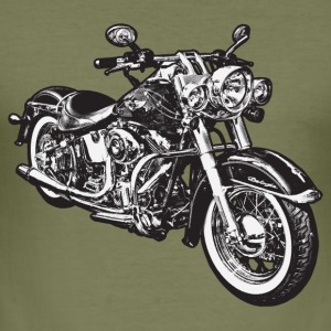 Oliv chopper hog bike motorrad T-shirts - Slim Fit T-shirt herr
