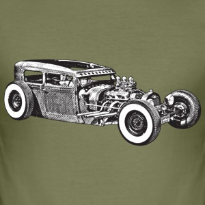 Braun hotrod custom car T-Shirts - Männer Slim Fit T-Shirt
