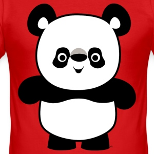 Mignon Panda cartoon heureux by Cheerful Madness!! Tee shirts - Tee shirt près du corps Homme