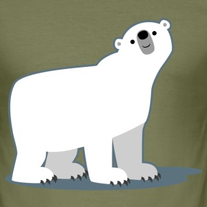 Gentil Ours Polaire cartoon par Cheerful Madness!! Tee shirts - Tee shirt près du corps Homme