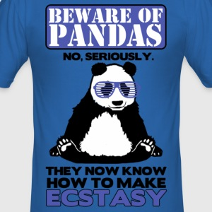 Beware of Pandas T-Shirts - Men's Slim Fit T-Shirt
