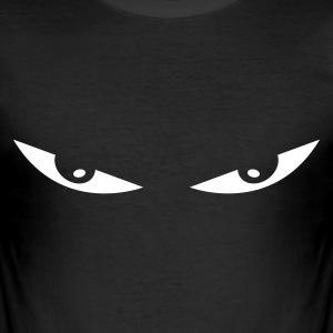 Schwarz comic eyes smiley augen T-Shirts - Männer Slim Fit T-Shirt