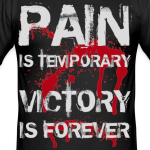 Sort Pain is temporary, Victory is forever (White) T-shirts - Herre Slim Fit T-Shirt