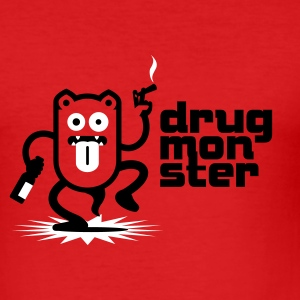 Dark orange Drugmonster No. 1.1 T-Shirts - Männer Slim Fit T-Shirt