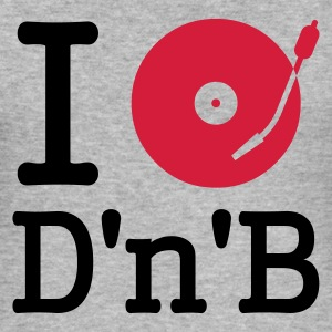 :: I dj / play / listen to drum and bass :-: - Slim Fit T-shirt herr