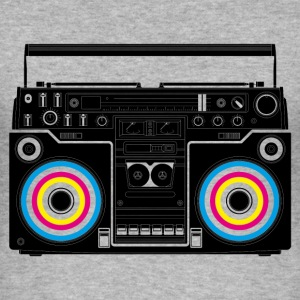 Blended grey boombox black Men's Tees - Men's Slim Fit T-Shirt