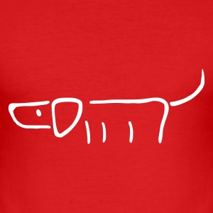 Wine Hund T-Shirts - Männer Slim Fit T-Shirt