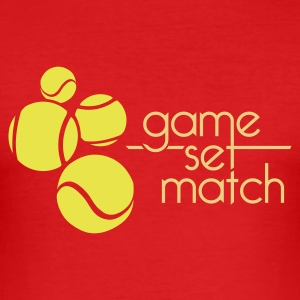 TENNIS: GAME SET MATCH - Maglietta aderente da uomo