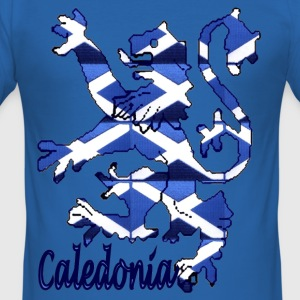 Caledonia Scottish Lion t-shirt - Men's Slim Fit T-Shirt