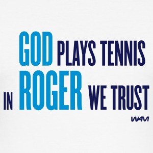 Blanc god plays tennis T-shirts - Tee shirt près du corps Homme