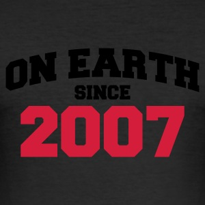 Eigelb on earth - Geburtstag -2007 T-Shirts - Männer Slim Fit T-Shirt