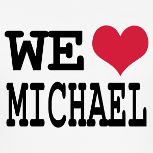 Weiß we love michael T-Shirts - Männer Slim Fit T-Shirt
