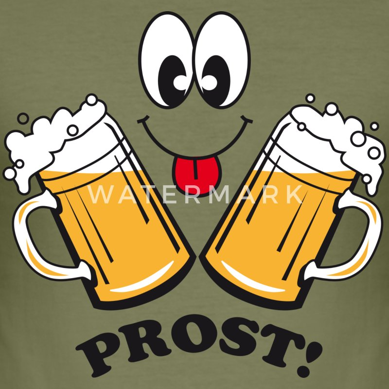 prost 2 bierkruege humor lustig t shirt spreadshirt. Black Bedroom Furniture Sets. Home Design Ideas