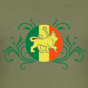 Camel lion_of_judah_jamaica_v2_3c T-shirts - slim fit T-shirt