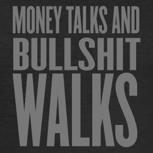 Noir money talks and bullshit walks by wam T-shirts - Tee shirt près du corps Homme
