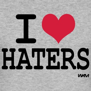 i love haters T-shirts - Slim Fit T-shirt herr