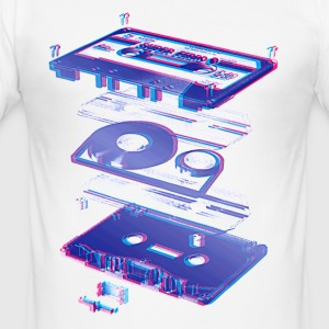 Hvit audio cassette tape compact 80s retro walkman T-skjorter - Slim Fit T-skjorte for menn