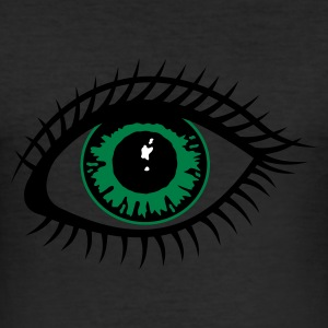 Eigelb auge - eye T-Shirts - Männer Slim Fit T-Shirt