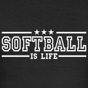 softball is life deluxe T-shirt - Maglietta aderente da uomo