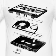 White Compact Cassette- Tape - Music - 80s Men's Tees