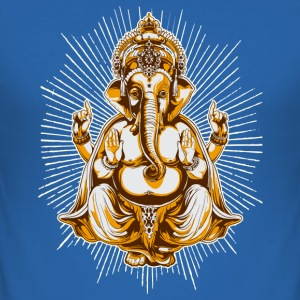 Kungsblå shiva T-shirts - Slim Fit T-shirt herr