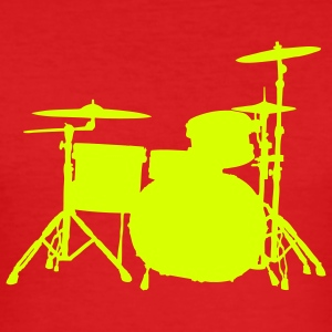 Drums wine-red - Männer Slim Fit T-Shirt