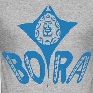 TATTOO MANTA TIKI BORA BORA T-shirts - Männer Slim Fit T-Shirt