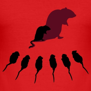 Wine Die Masterratte / the master rat (2c) T-Shirts - Männer Slim Fit T-Shirt