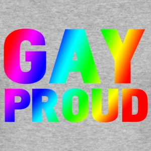 gay proud T-shirts - Slim Fit T-shirt herr