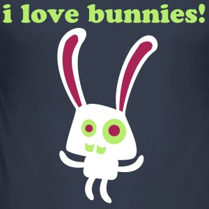 i love bunnies! - Männer Slim Fit T-Shirt