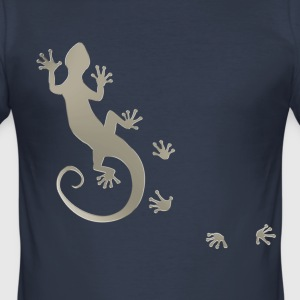 RUNNING GECKO SILBER | Slim Fit Shirt - Männer Slim Fit T-Shirt