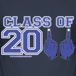class 2011 finger blue and whit Greece, Finland,France T-Shirts - Men's Slim Fit T-Shirt