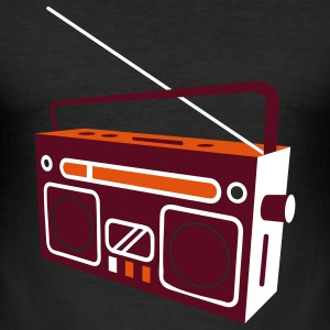 radio cassette recorder T-Shirts - Men's Slim Fit T-Shirt