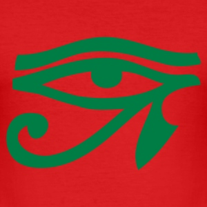Dark orange Eye Of Horus / Auge des Horus T-Shirts - Männer Slim Fit T-Shirt
