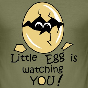 Little Egg is watching you! T-Shirts - Männer Slim Fit T-Shirt